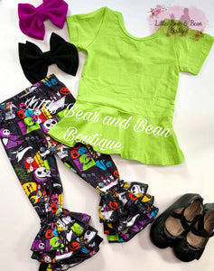 Lime Peplum Top