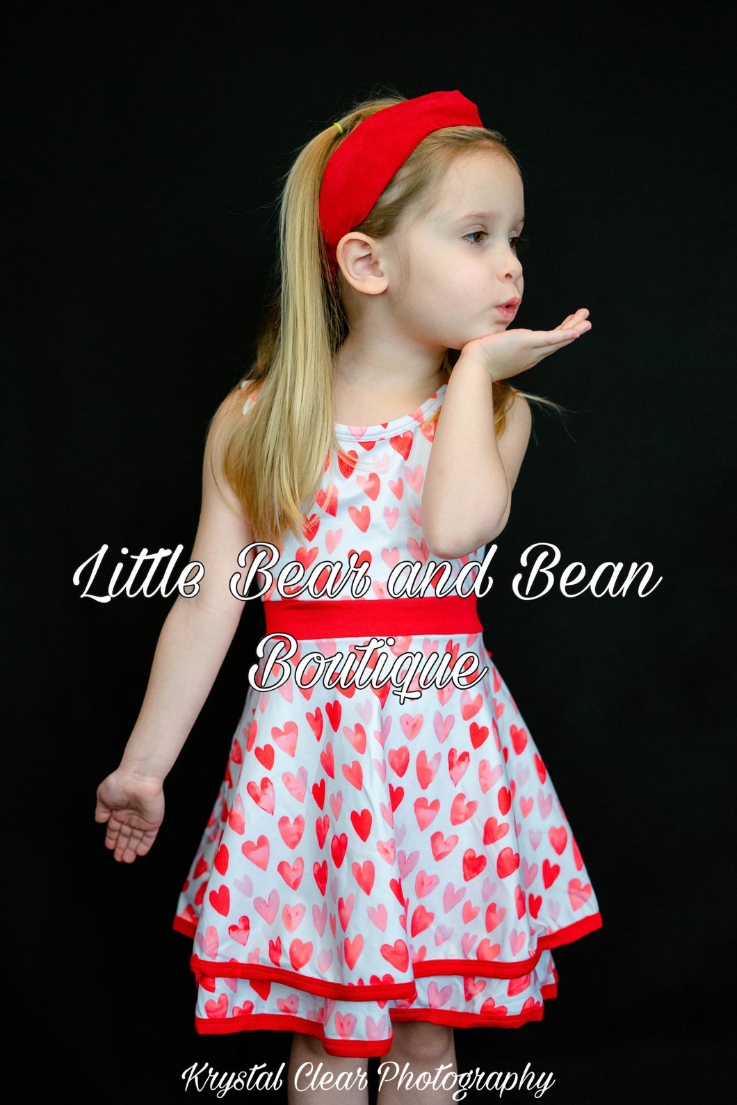 Sleeveless Hearts Double Layer Twirl Dress
