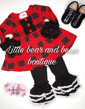 Load image into Gallery viewer, Buffalo Plaid Lace Trim Belle Set