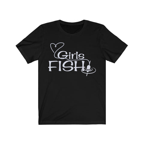 Girls Fish Dark Jersey Short Sleeve Tee