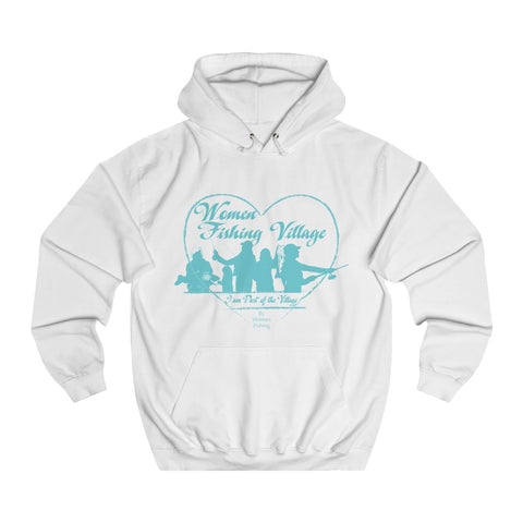 WomenFishing Village Blue College Hoodie
