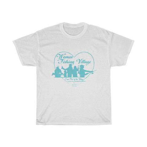WomenFishing Village Blue Heavy Cotton Tee