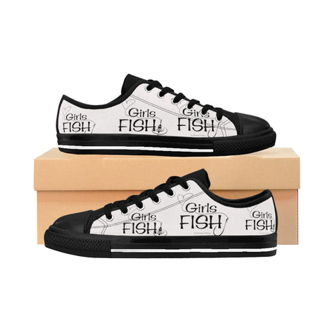 Girls Fish Sneakers White