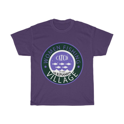 Purple Heavy Cotton Tee Multicolor