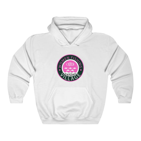 WHITE/PINK Unisex Heavy Blend™ Hooded Sweatshirt