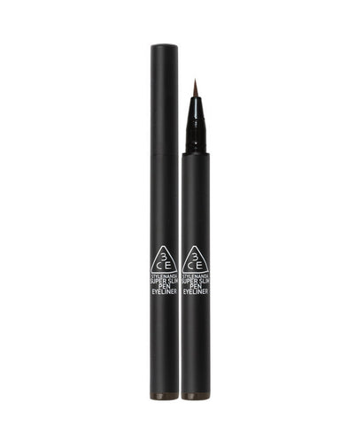 STYLENANDA 3CE SUPER SLIM PEN EYE LINER Brown Long Lasting Cosmetics