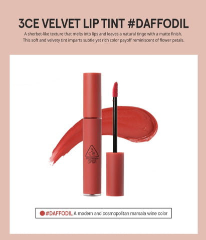 3CE Stylenanda Velvet Lip Tint DAFFODIL Beauty Cosmetics Womens Makeup