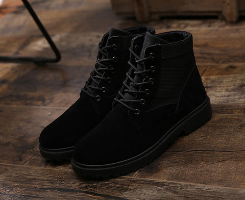 Black Suede Boots Shoes