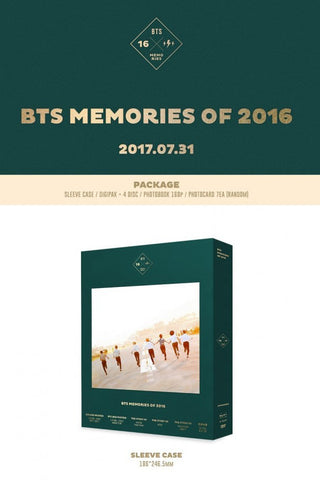 BTS MEMORIES of 2016 DVD 4 DISC