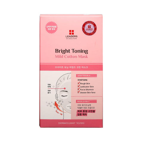 Leaders EX Solution Bright Toning Mild Cotton Masks 5 Sheets