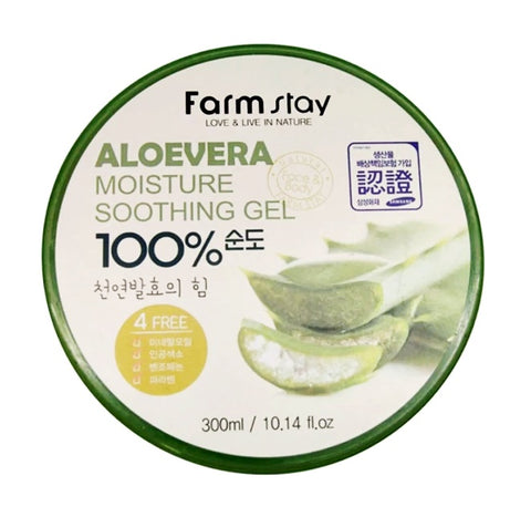 Farmstay 100% Aloe Vera Moisture Soothing Gels 300ml