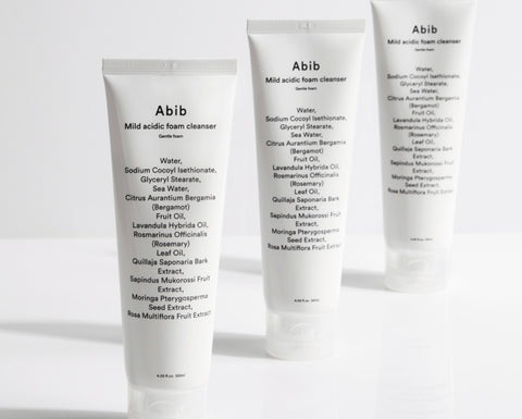 Abib Mild Acidic Foam Cleanser Gentle Foam 120ml Low PH Sensitive Skin