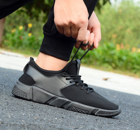 All Black Chic Drawstring Sneakers Shoes