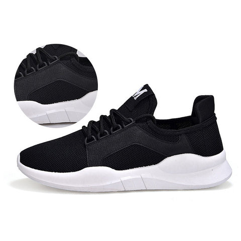Black Unisex Athletic Sneakers Shoes