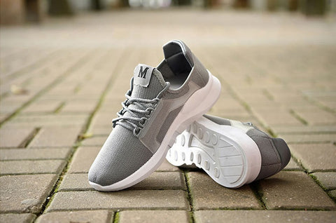 Gray Unisex Athletic Sneakers Shoes
