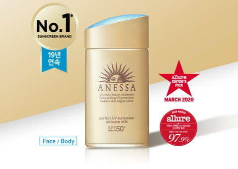 ANESSA Perfect UV Sunscreen Skincare Milk SPF50+ 60ml Korean Skincare