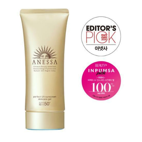ANESSA Perfect UV Sunscreen Skincare Gel A SPF 50+ PA++++ 90g Womens