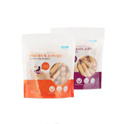 ATOMY Hey Dogs Sausage Two Flavors Pets Puppy snack foods chicken