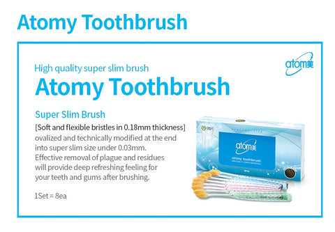 Atomy Toothbrush 8ea Set Dental Oral Care Antibacterial Toothbrush