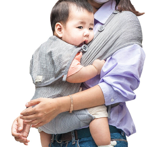 BAEKHYOJUNG Gray Wrap Baby Carrier Elastic New Born Baby Babies 15kg