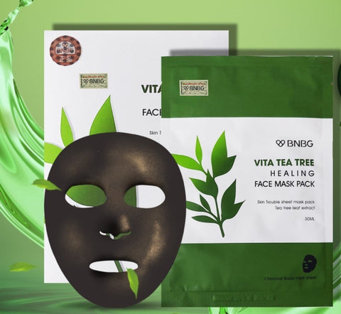 BNBG Vita Tea Tree Healing Face Mask Pack Skin Care Pore Tightening