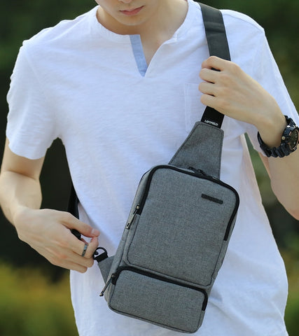 Gray Travel Sling Bags Messengers Crossbody Picnic Mens Unisex Travel