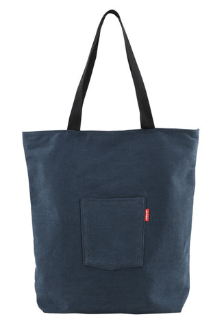 Pocket Unisex Shoulder Bags Casual Totes Cotton Purses Made In Korea