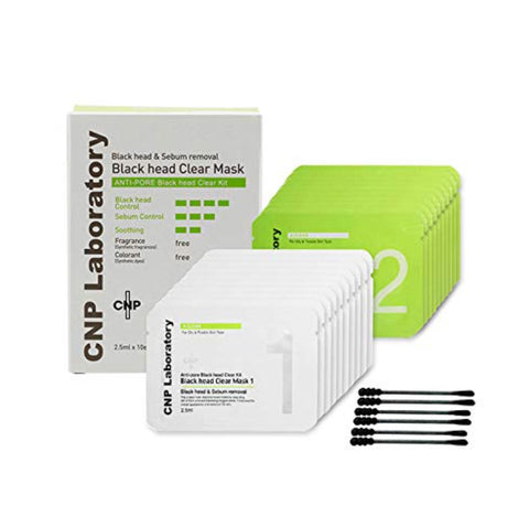 CNP Laboratory Anti-pore Black Head Clear Mask 10sets Sensitive Skin