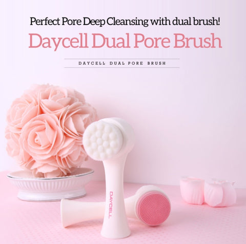 DAYCELL Dual Pore Brush Deep Cleansing Skin Care Blackheads Massages