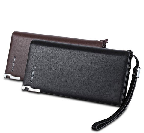 Smart Phone Multi Pouch Mens Bag Zipper long wallet Coin Credit card