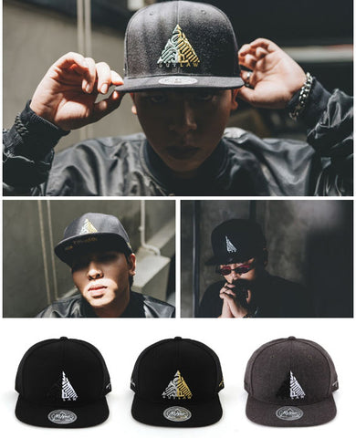 OUTLAW Hiphop Baseball Caps Snapback Hats Mens Accessorries Unisex New
