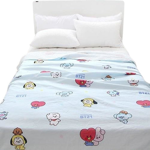 BT21 Universtar Layered Comforter Blue Bedding Interior accessories