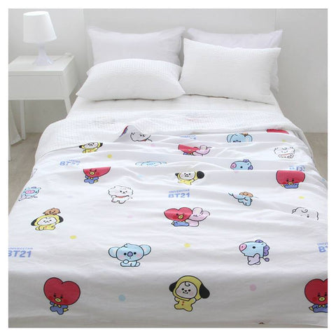 BT21 Universtar Layered Comforter White Bedding Interior accessories