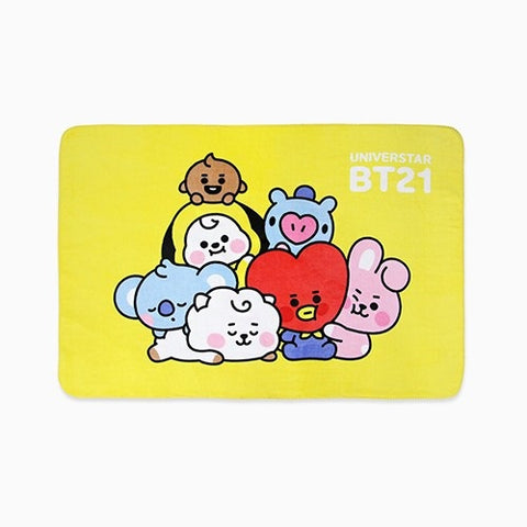BT21 Baby Together Flannel Soft Touch Blankets Kpop Korea Polyester