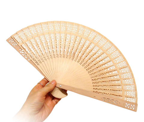 Bamboo Korea Traditional Folding Hand Fan Portable Summer eco-friendly