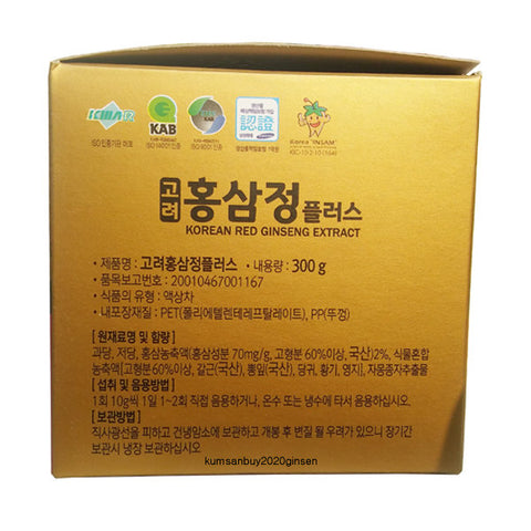DONG JIN Korea Red Ginseng Extract 300g Tea Health supplements Gifts