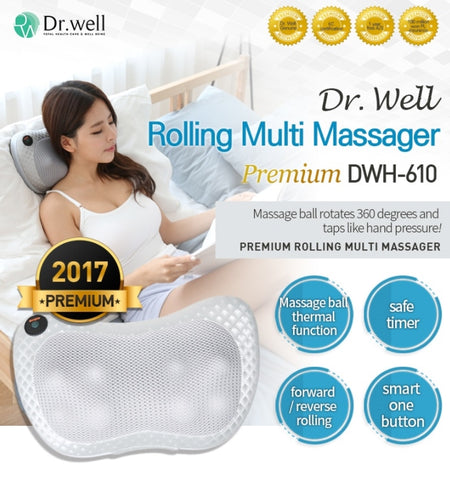 Dr.Well Navi Cushion Massager DWH-610 Rolling Neck Shoulder Warmth