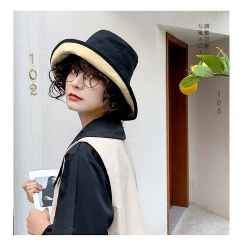 Reversible Bucket Hat Kpop Style Trendy Fashion Unisex Vacation Trip