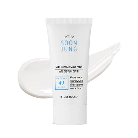 ETUDE HOUSE Soonjung Mild Defence Sun Cream SPF49 PA++ 50ml Skin Care