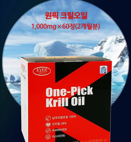 EVERGREEN One Pick Antarctica Krill Oil 60Capsule Health Supplements