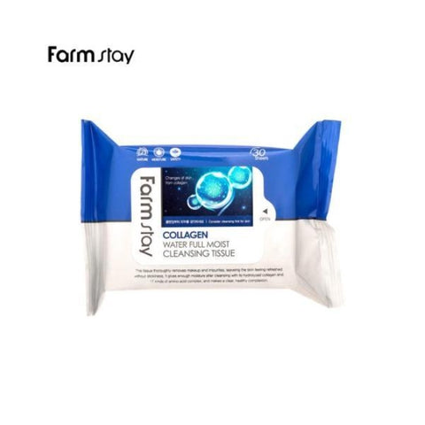 Farm Stay COLLAGEN WATER FULL MOIST CLEANSING TISSUE 120ml Womens Face