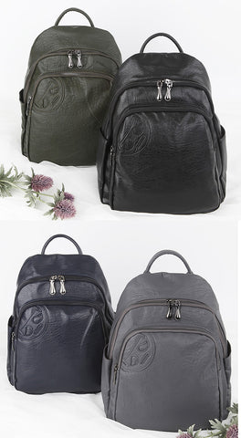 Soft Faux Leather Casual Backpacks Womens Girls School Bookbags Unique