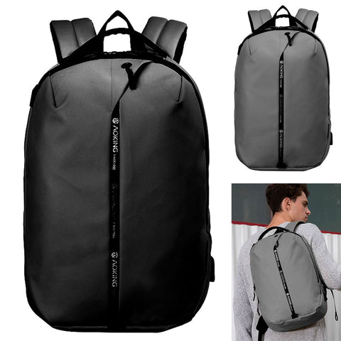 Laptop Backpacks Mens Luggage Strap Band USB Night Safety Waterproof