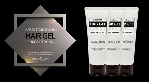 Hairco story Natural Hair Gel Super Strong 200ml Beauty  Men hairstyle