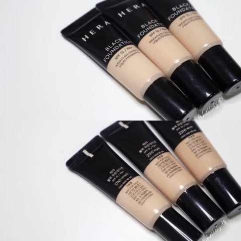 HERA Black Foundation 10ml 3Sets Tube Makeup Beauty excellent coverage