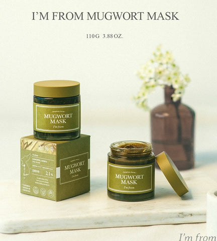 I'm From Mugwort Mask 110g Sensitive Skin Care Cooling Soothing Beauty