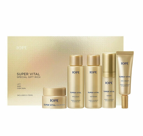IOPE Super Vital Special Gift Rich 5 Items Korea Cosmetics Skin Care