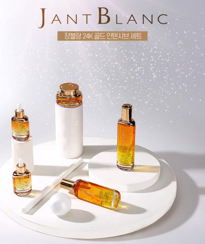 JANT BLANC 24k Gold Intensive 5 Set Sensitive Dry Skin Care Elasticity