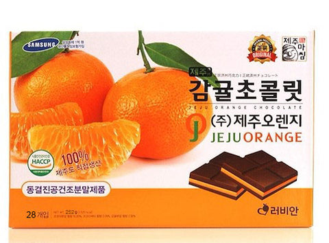 Jeju Orange Chocolate 252g 28p Korean Chocolate Foods Snack Sweet