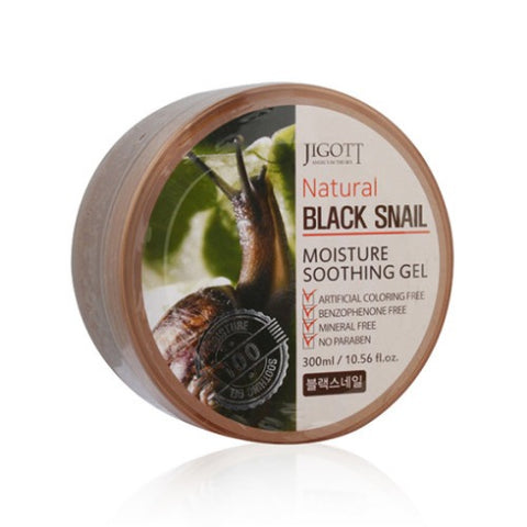 JIGOTT NATURAL BLACK SNAIL MOISTURE SOOTHING GELS 300ML BODY FACE SKIN